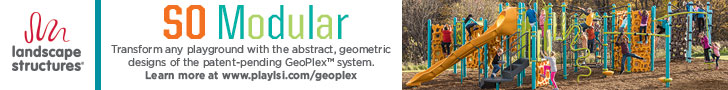 Landscape Structures - SO Modular - Transform any playground with the abstract, geometric designs of the patent-pending Geoplex™ system.  Click to learn more.
